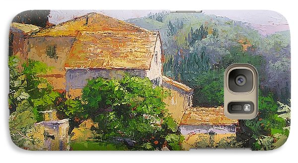 Galaxy Case featuring the painting Tuscan Village by Chris Hobel
