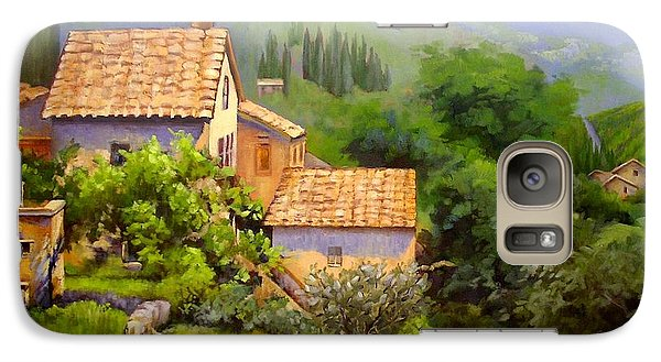 Galaxy Case featuring the painting Tuscan Village Memories by Chris Hobel