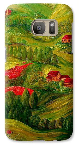 Galaxy Case featuring the painting Tuscany At Dawn by Eloise Schneider