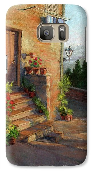 Galaxy Case featuring the painting Tuscany Morning Light by Vikki Bouffard