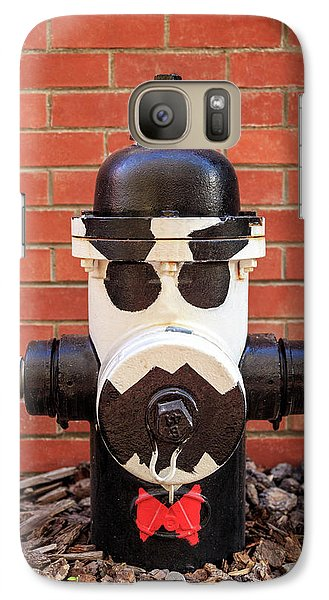 Galaxy Case featuring the photograph Tuxedo Hydrant by James Eddy