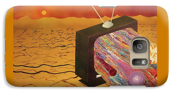 Galaxy Case featuring the painting Tv Wasteland by Thomas Blood