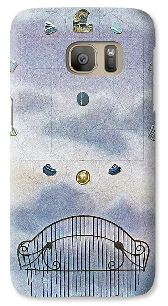 Galaxy Case featuring the painting Twelve by Laurie Stewart