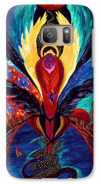Galaxy Case featuring the painting Captive Angel by Marina Petro