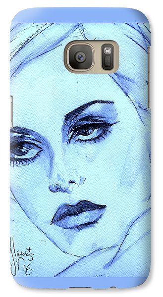 Galaxy Case featuring the painting Twiggy In Blue by P J Lewis