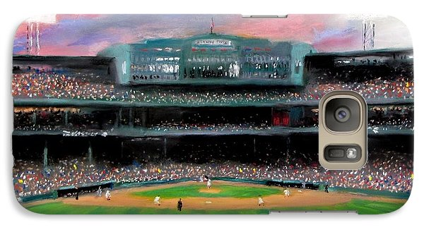 Twilight At Fenway Park Galaxy Case by Jack Skinner