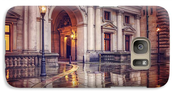 Galaxy Case featuring the photograph Twilight At Hamburg Town Hall Courtyard  by Carol Japp