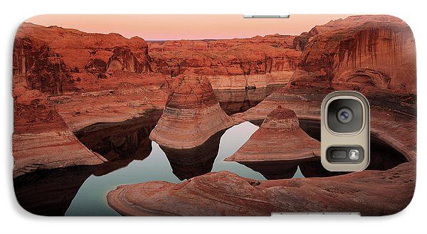 Galaxy Case featuring the photograph Twilight Glow In Reflection Canyon, Lake Powell, Utah. by Johnny Adolphson