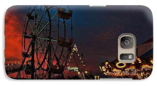 Galaxy Case featuring the photograph Twilight On The Midway  by John Harding