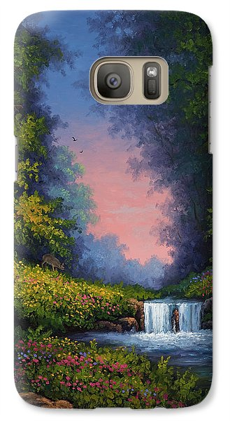 Galaxy Case featuring the painting Twilight Whisper by Kyle Wood