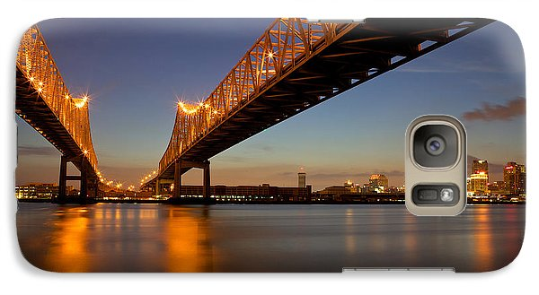 Galaxy Case featuring the photograph Twin Bridges by Evgeny Vasenev