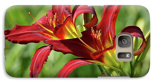 Galaxy Case featuring the photograph Twin Daylilies by Sandy Keeton