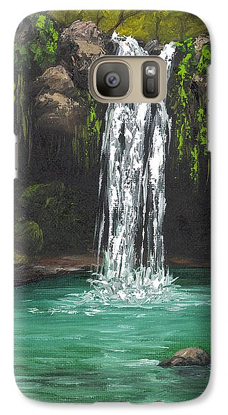 Galaxy Case featuring the painting Twin Falls 2 by Darice Machel McGuire