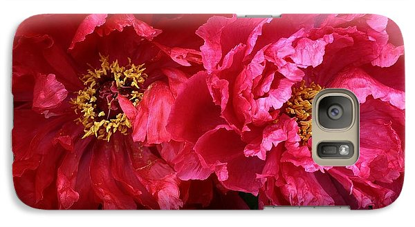 Galaxy Case featuring the photograph Twin Peonies by Bruce Bley