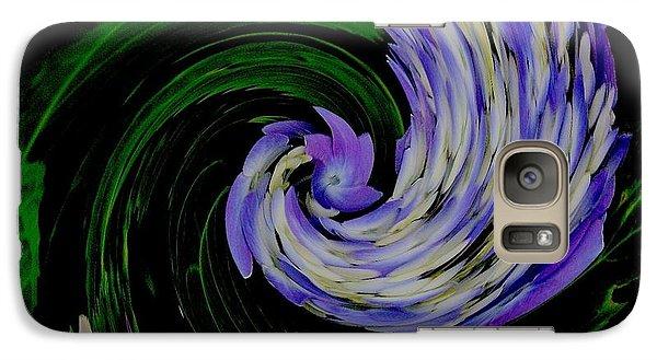 Galaxy Case featuring the digital art Twirly Birdy by Marsha Heiken