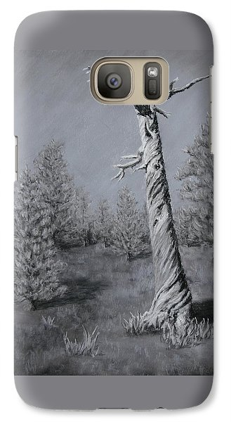 Galaxy Case featuring the painting Twisted by Nancy Jolley