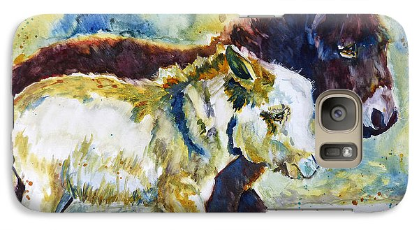 Galaxy Case featuring the painting Two Amigos by P Maure Bausch