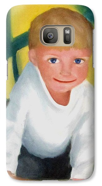 Galaxy Case featuring the painting Two And A Half by Patricia Cleasby