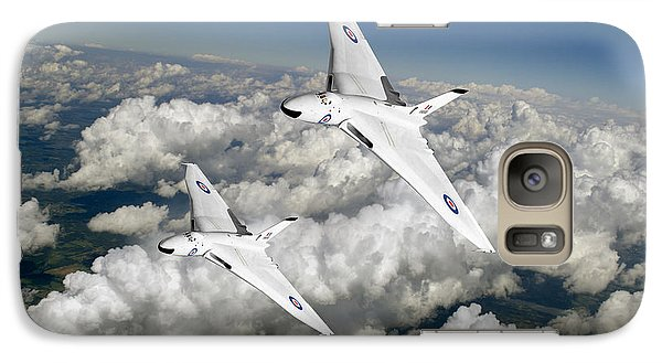 Galaxy Case featuring the photograph Two Avro Vulcan B1 Nuclear Bombers by Gary Eason
