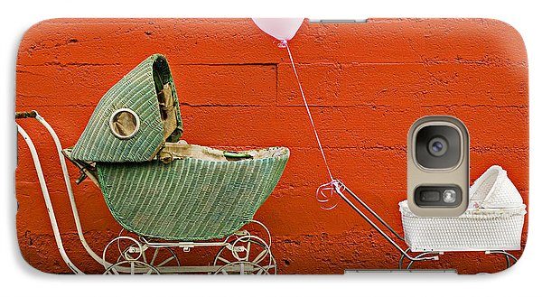 Two Baby Buggies  Galaxy Case by Garry Gay
