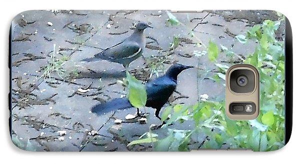 Galaxy Case featuring the photograph Two Birds Blue by Felipe Adan Lerma
