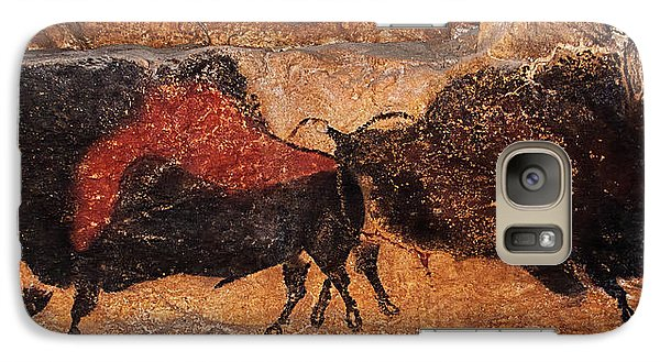Two Bisons Running Galaxy S7 Case
