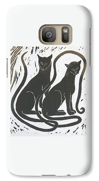 Two Black Felines Galaxy S7 Case