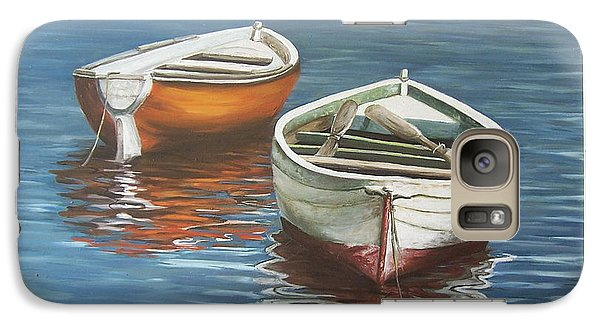 Galaxy Case featuring the painting Two Boats by Natalia Tejera
