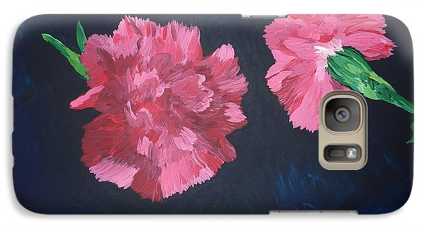 Galaxy Case featuring the painting Two Carnations by Joshua Redman