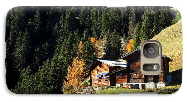 Two Chalets On A Mountainside Galaxy S7 Case