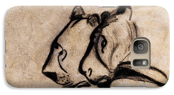 Two Chauvet Cave Lions - Clear Version Galaxy S7 Case