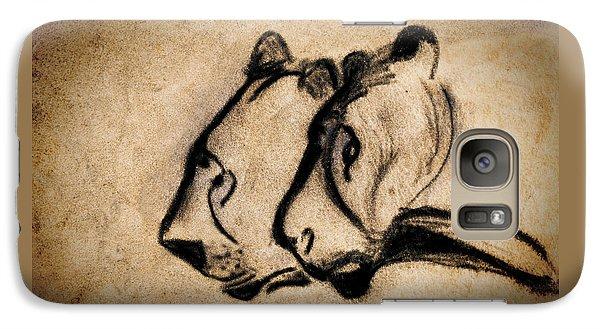 Two Chauvet Cave Lions Galaxy S7 Case
