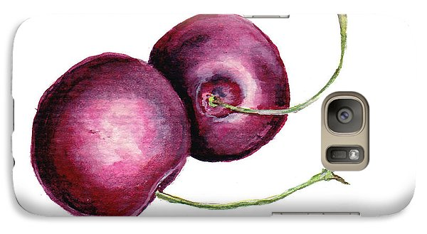 Galaxy Case featuring the painting Two Cherries by Heidi Kriel