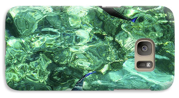 Galaxy Case featuring the photograph Two Coral Fishes  by Jenny Rainbow