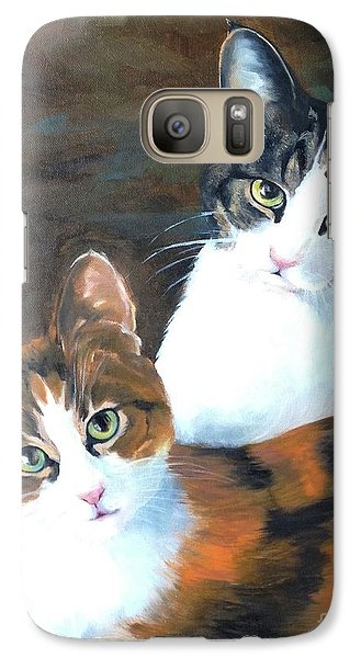Galaxy Case featuring the painting Two Friends by Diane Daigle