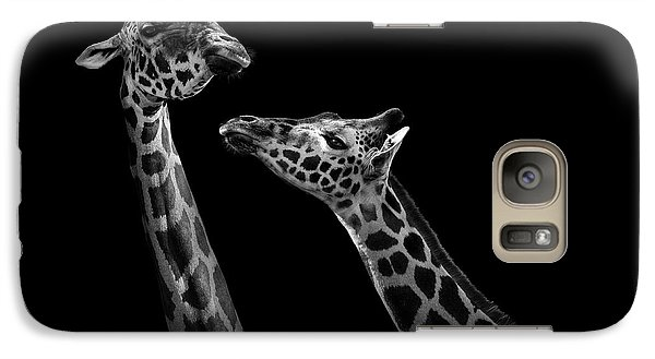 Two Giraffes In Black And White Galaxy S7 Case