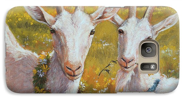 Two Goats Of Summer Galaxy Case by Tracie Thompson