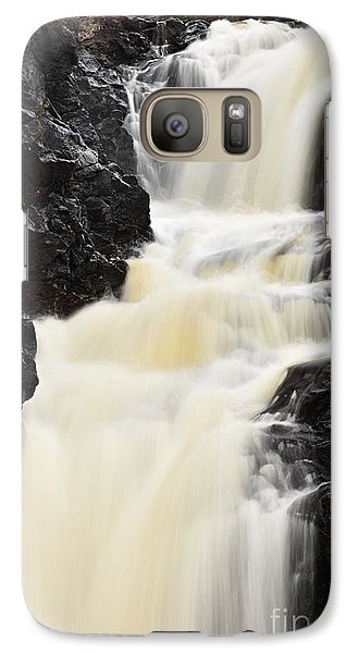 Galaxy Case featuring the photograph Two Island River Waterfall by Larry Ricker