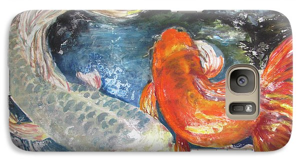 Galaxy Case featuring the painting Two Koi by Susan Herbst