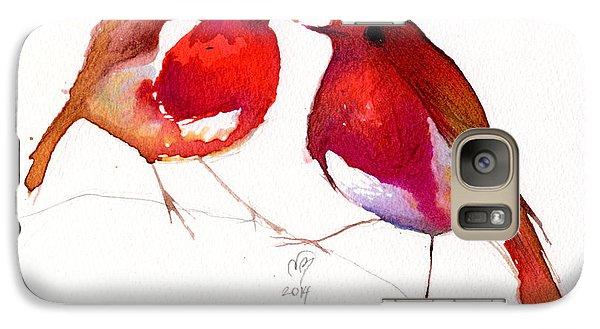 Lovebird Galaxy S7 Case - Two Little Birds by Nancy Moniz