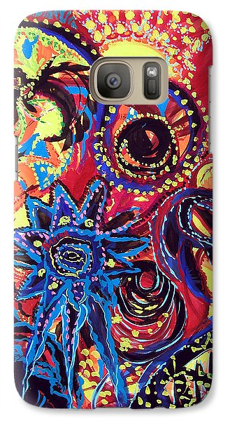 Galaxy Case featuring the painting Elements Of Creation by Marina Petro