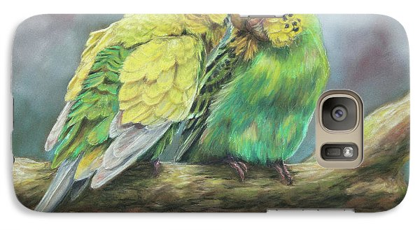 Parakeet Galaxy S7 Case - Two Of A Kind by Kirsty Rebecca