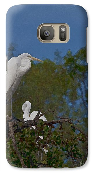 Galaxy Case featuring the photograph Two On A Perch by Ken Frischkorn