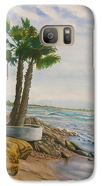 Galaxy Case featuring the painting Two Palms by Teresa Beyer