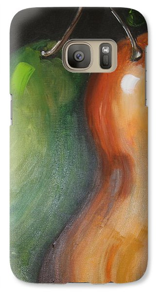 Galaxy Case featuring the painting Two Pears by Jolanta Anna Karolska