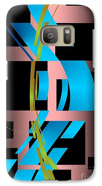 Galaxy Case featuring the digital art Two Possibilities by Leo Symon