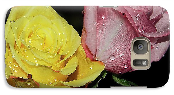 Galaxy Case featuring the photograph Two Roses by Elvira Ladocki