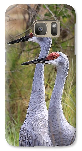 Two Sandhills In Green Galaxy S7 Case