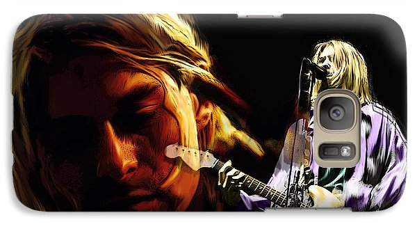 Galaxy Case featuring the painting Two Shades  Kurt Cobain by Iconic Images Art Gallery David Pucciarelli