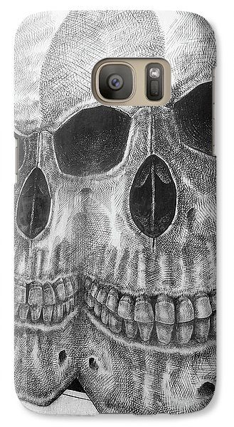 Galaxy Case featuring the photograph Two Skulls ... by Juergen Weiss